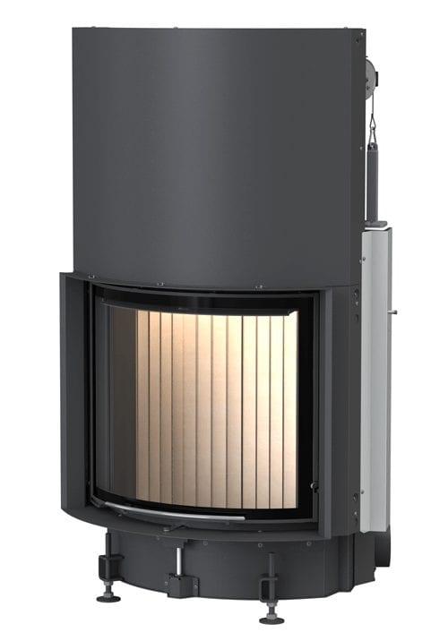 Kompakt Kamin 57:67 – polkrožna zasteklitev